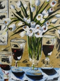 Red Wine & White Tulips
