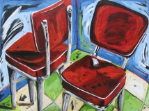 Red Vinyl Chairs